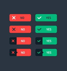 Confirmation Flat Buttons vector
