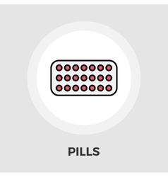 Contraceptive pills flat icon vector