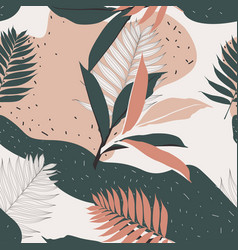 Creative universal floral background in tropical vector