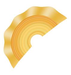 Creste di gallo pasta icon realistic style vector