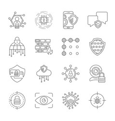 cyber security internet protection and data vector image