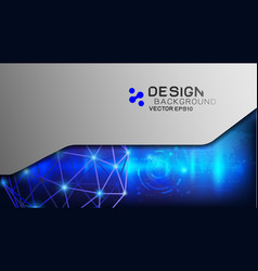 design trendy and digital technology concept vector image