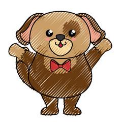 Dog kawaii cartoon vector