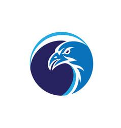 Eagle circle logo vector