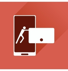 Flat web icon with long shadow phone message vector