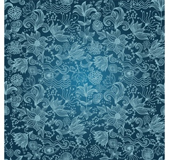 Floral Outlines Pattern vector