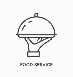 food service flat line icon outline vector image