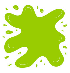 green splash on a white background vector image