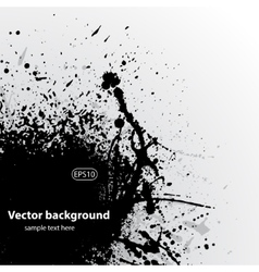 Grunge background black vector