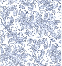 Handmade unusual seamless pattern Exotic floral vector image