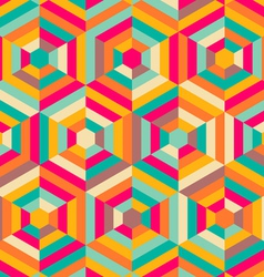Hexagon mosaic pattern vector