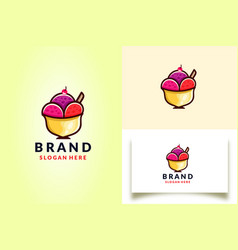 Ice cream logo template vector
