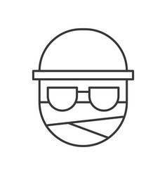 Invisible man halloween character editable stroke vector