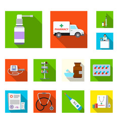 isolated object of pharmacy and hospital icon vector image