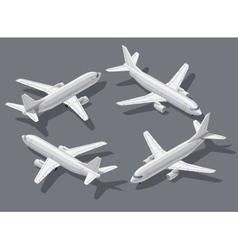 Isometric airplane 1 vector