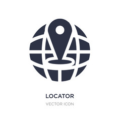 Locator icon on white background simple element vector
