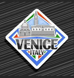 logo for venice vector image