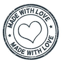 Made with love grunge rubber stamp vector