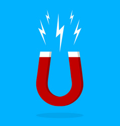 Magnet icon electromagnetic horseshoe for attract vector