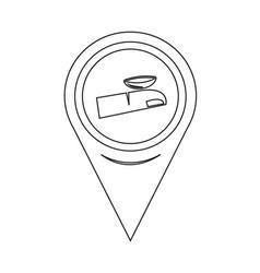 Map pin pointer contact lens icon vector