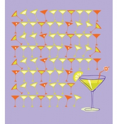 martini with lemon vector image