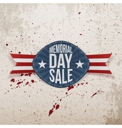 Memorial Day Sale realistic Label with Text vector image