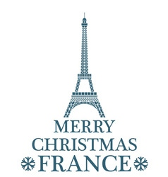 Merry Christmas France vector