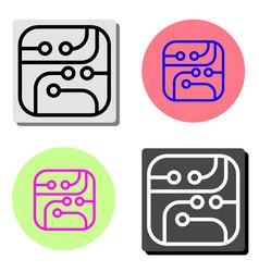 micro circuit flat icon vector image