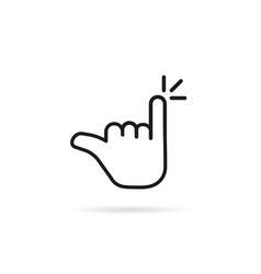 minimal linear pinky finger like promise vector image