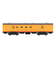 mobile sorting office in train vector image