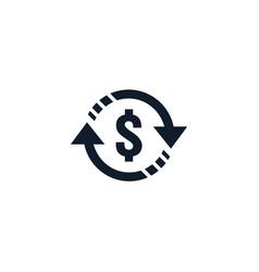 Money transfer icon symbol currency exchange vector