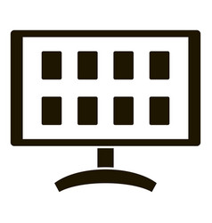 monitor video security icon simple style vector image
