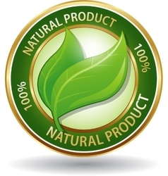 Natural product eco friendly website icon vector image vector image
