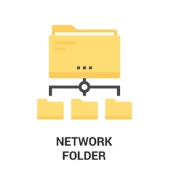 newtwork folder icon vector image