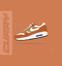 Nike air max 1 curry og vector