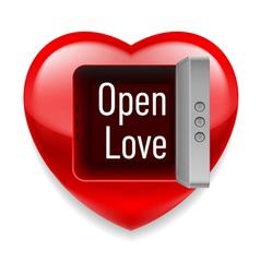 Open love image vector