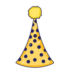 party hat cartoon vector image