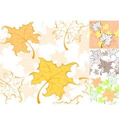 Pattern from autumn sheet vector