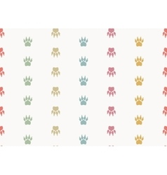 Paw prints Seamless background vector