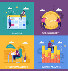 perfect management design concept vector image