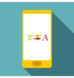 Phone translation icon flat style vector