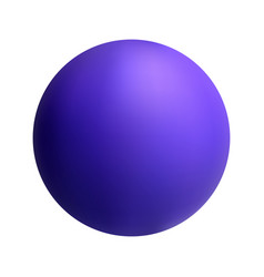 purple ball on white isolated background vector image