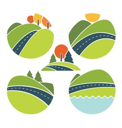 Read and landscape vector
