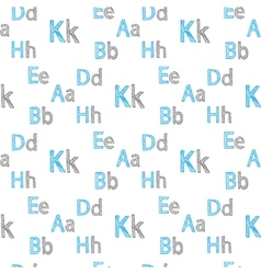 seamless pattern english letters vector image