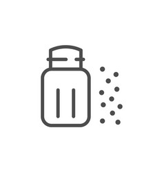 seasoning shaker line icon vector image