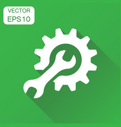 service tools icon business concept cogwheel with vector image