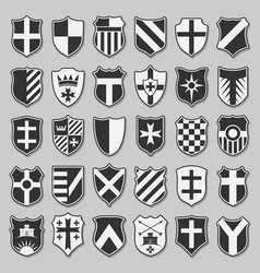 Set heraldic shields vector