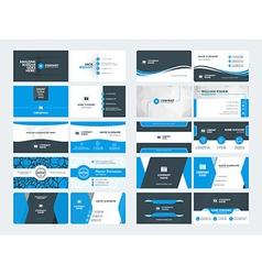 Set modern creative business card templates vector