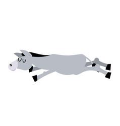 sleeping donkey animal is asleep sleep ass vector image