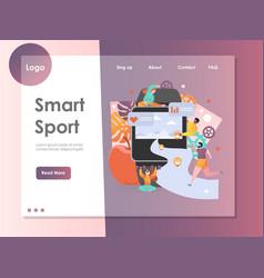 Smart sport website landing page design vector